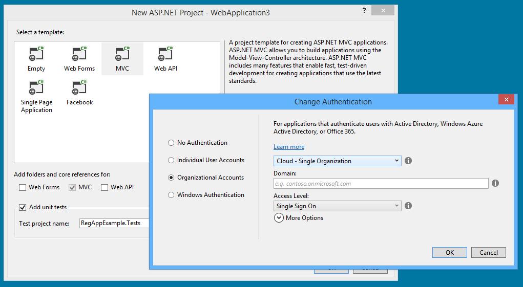 Visual Studio 2013 One ASPNET