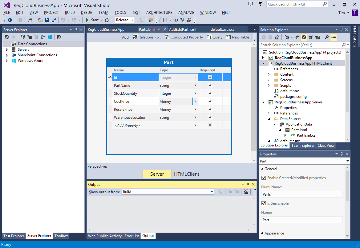 Visual Studio 2013 Cloud App