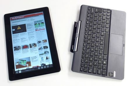 Asus Transformer Book T100 separated tablet from keyboard