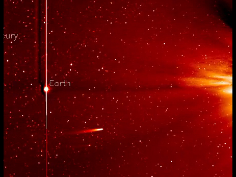 STEREO image of Ison approaching the Sun. Pic: NASA
