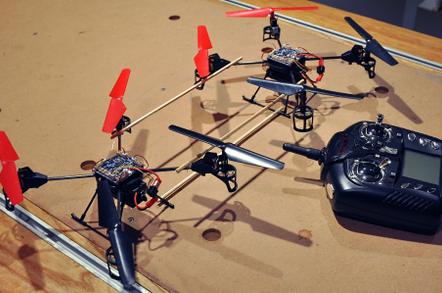 Goudsene's quad-copter camera rig
