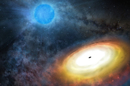 Artist's visualization of the environment around M101 ULX-1