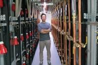 Hong Kong datacentre asicminer man standing