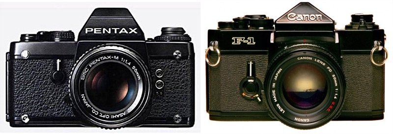 The Pentax LX and Canon F-1