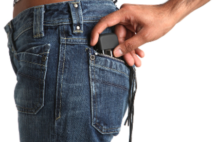 Mobile phone stolen by pickpocket