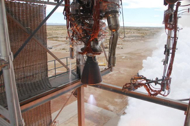 The BE-3 firing. Pic: Blue Origin
