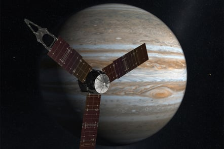 Artist's impression of Juno and Jupiter. Pic: NASA