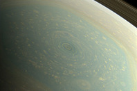 The hexagonal storm at Saturn's north pole as seen by Cassini in November 2012. Pic NASA