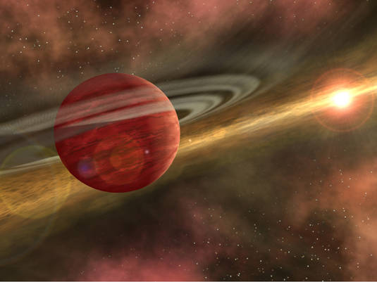 Artist's conception of exoplanet HD 106906 b