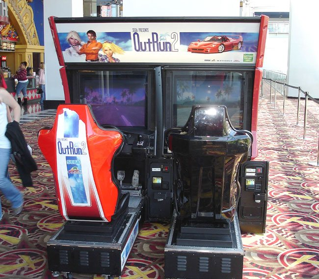 Out Run 2 arcade game cabinet