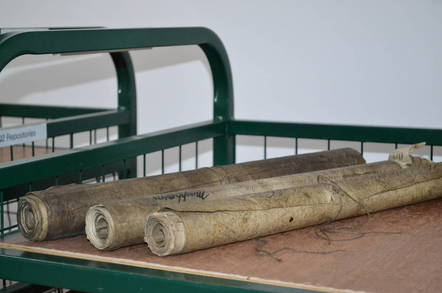 Old scrolls at the National Archive