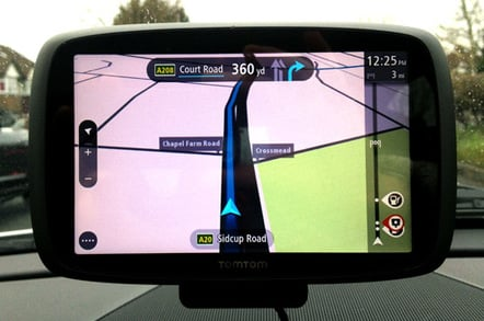 TomTom GO 6000 satnav chews on smarties and tablets • The