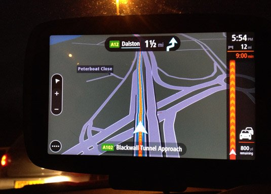 TomTom GO 6000 congestion at night