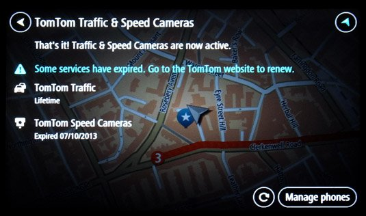 TomTom GO 600 paired services report