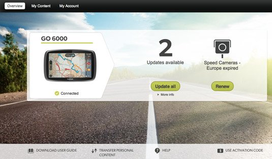 TomTom GO 6000 with MyDrive app