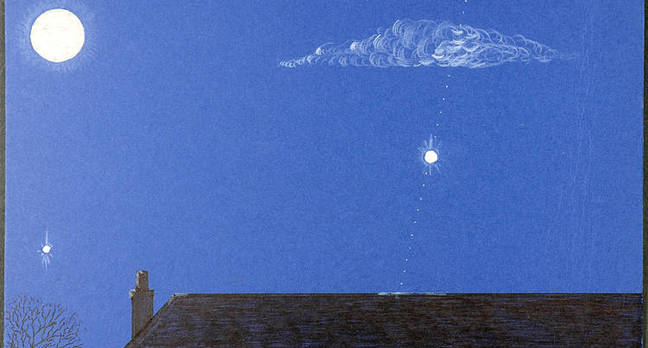 Artwork sent to the Air Ministry depicting UFO sighting experienced by a member of the public.