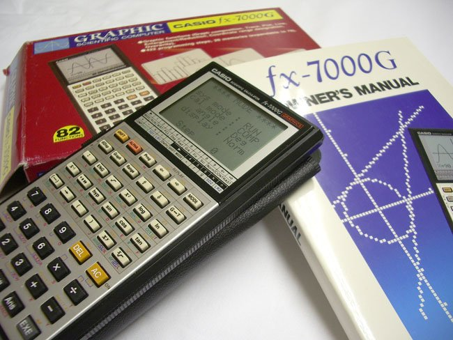 Ten classic electronic calculators from the 1970s and 1980s