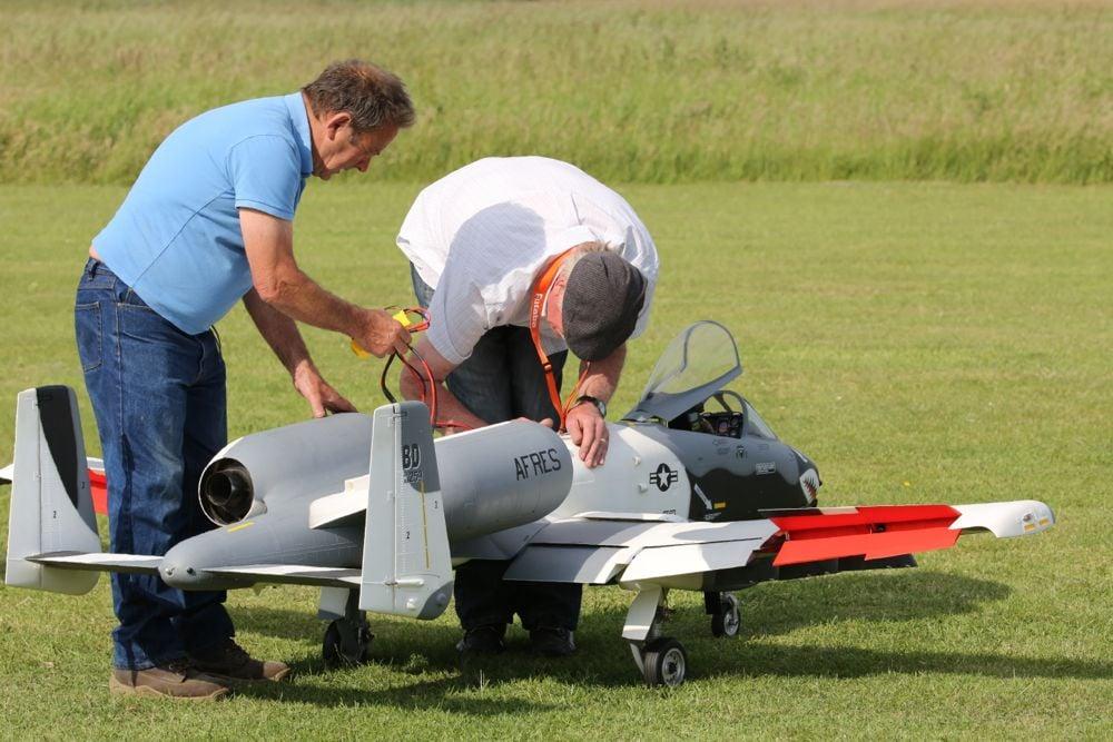 A10 Warthog RC plane on ground
