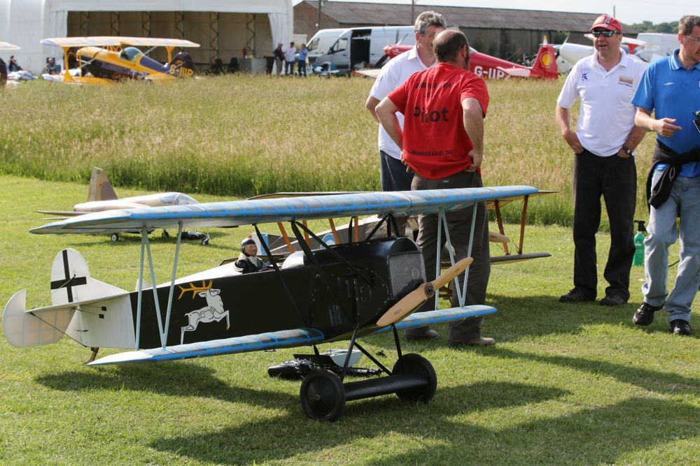 Fokker D7 RC plane on ground