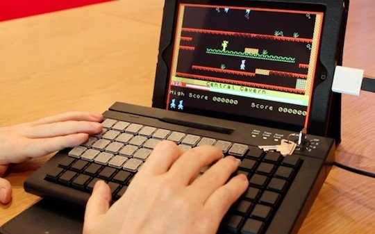 Elite Systems' prototype bluetooth keyboard for the ZX Spectrum