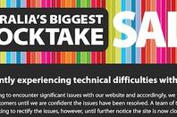 Myer's website crash notice