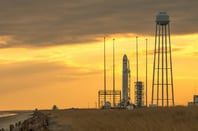 Antares on the launch pad Wallops Flight Facility. Pic: NASA/Bill Ingalls