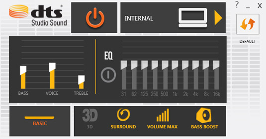 DTS audio enhancer