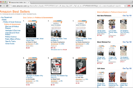 Screen shot of Mein Kampf on Amazon.com's bestseller list