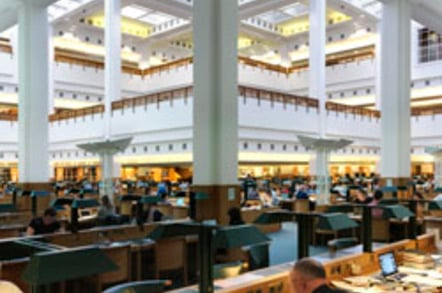 Reading Room British Library, St Pancras by Paul Grundy.