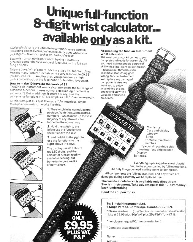 Sinclair Instruments Wrist Calculator