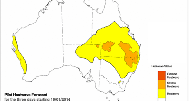 The Bureau of Meteorology's heatwave forecast