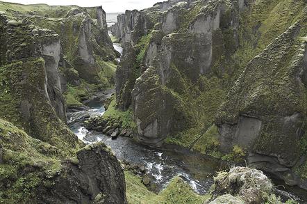 Icelandic chasm