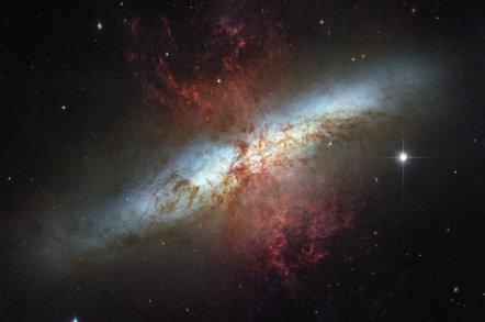 Hubble shot of M82
