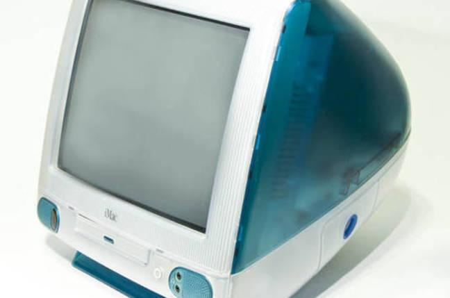The original 'Bondi Blue' iMac G3