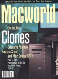 Macworld cover from April 1995: 'Clones'