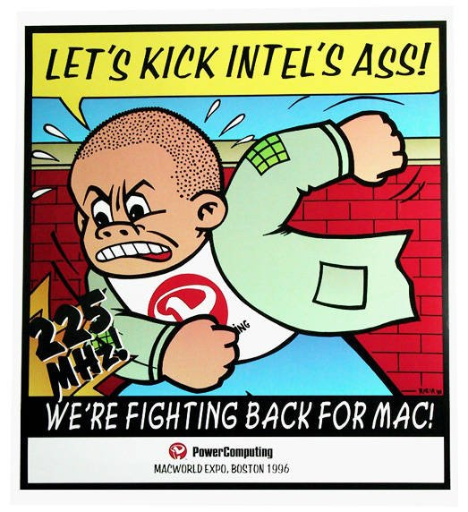 Power Computing' 'Let's kick Intel's ass!' advertisement