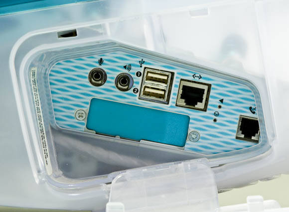 Ports on the original 'Bondi Blue' iMac
