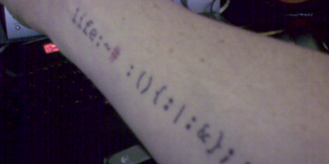 A tattoo with probable syntax error