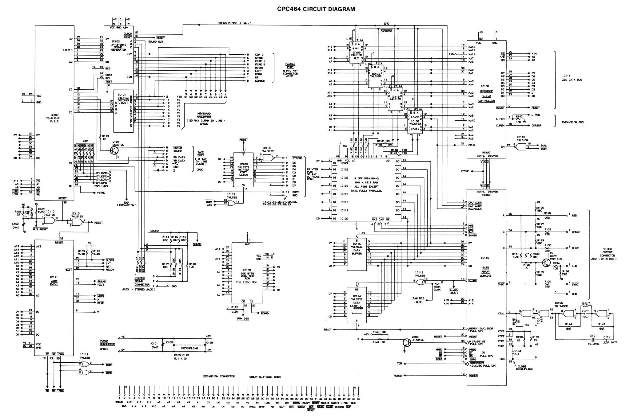 Youre Not Fired The Story Of Amstrads Amazing Cpc 464 Register Jaguar Wiring Diagram 64 Amstrad Schematic