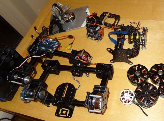 Bits and pieces from Stuart's early gimbal projects