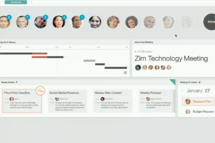 IBM's re-imagined MailNext interface