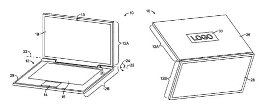 Glass Apple laptop