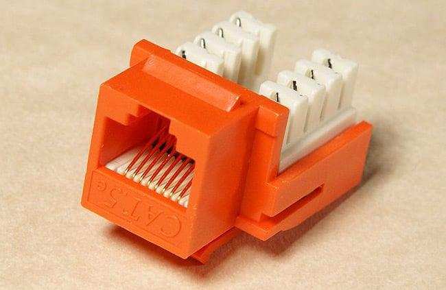 A Cat5 keystone module