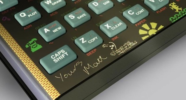 Sinclair ZX Spectrum bluetooth keyboard with Manic Miner Art