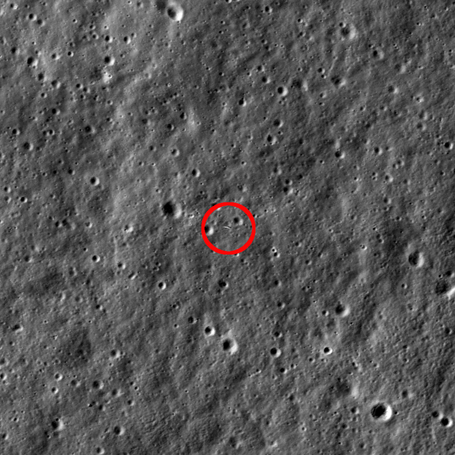 LRO snaps pic of LADEE