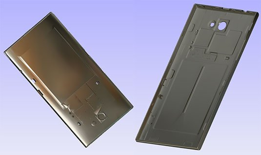 Screenshot of 3D models for Jolla's The Other Half devices
