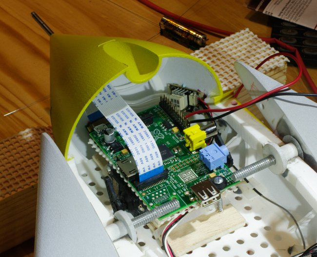 The Pi mounted in the Vulture 2 nose