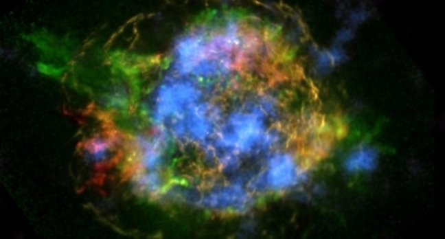 The glowing remains of Cassiopeia A