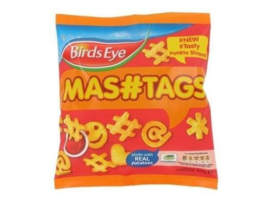 Birds Eye's 'mashtags' snack