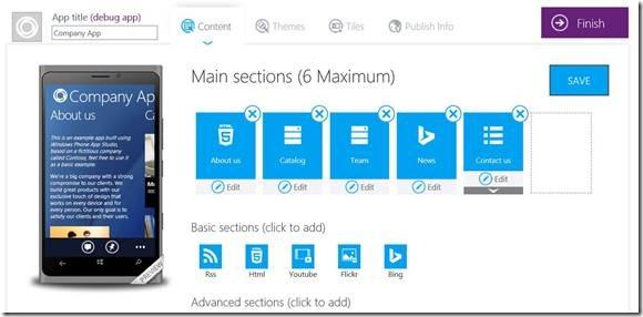Windows Phone App Studio Beta update